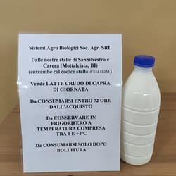 latte crudo di capra fresco da 1 lt